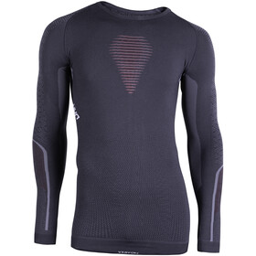 UYN Visyon UW Longsleeve Shirt Heren, charcoal/red/white